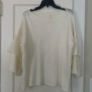 Cream Wide Arm Sweater